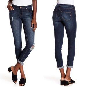 1822 Denim Adrianna Baby Roll Skinny Jeans Size 29